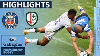 Bath v London Irish - HIGHLIGHTS   7 Tries in Thrilling Return Game   Gallagher Premiership