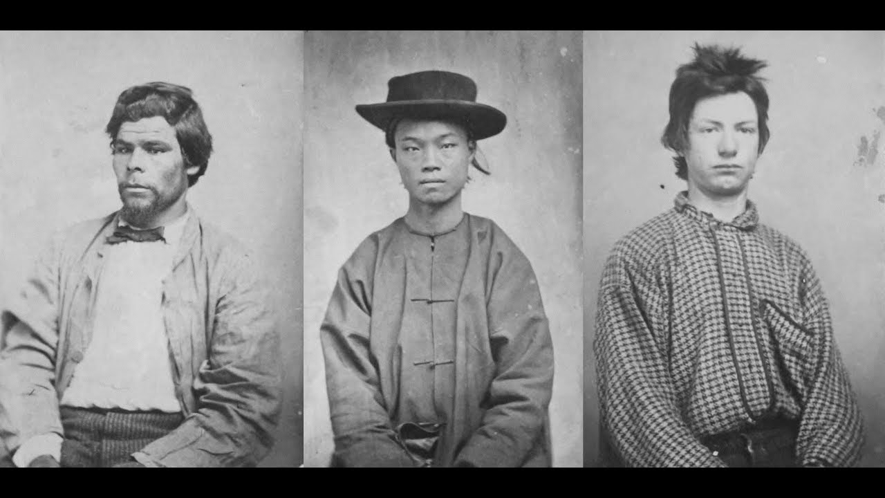 Vintage Mugshots of Criminals in Sacramento in the 1860's