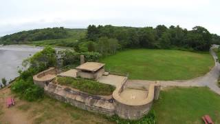 Battery Chapin at Fort Foster,  Kittery, Maine - Music: Mark Knopfler - Who