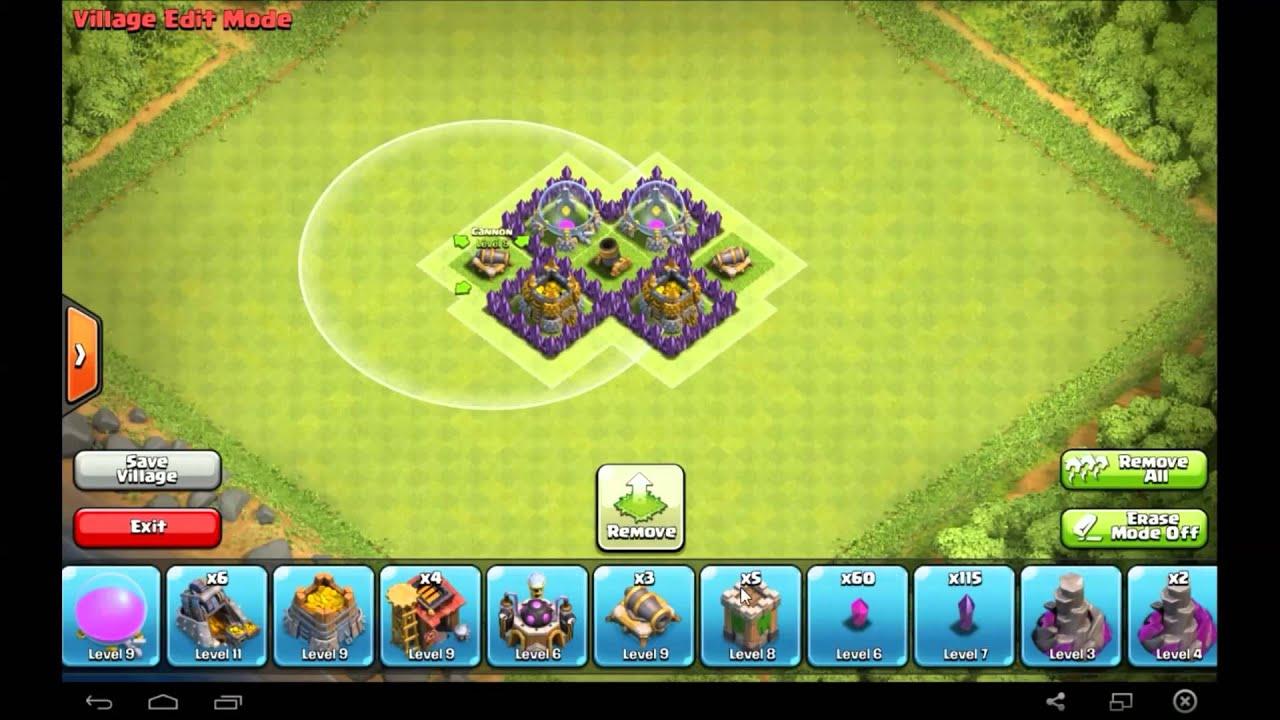 amazing th3 farming base layout - clash of clans - youtube