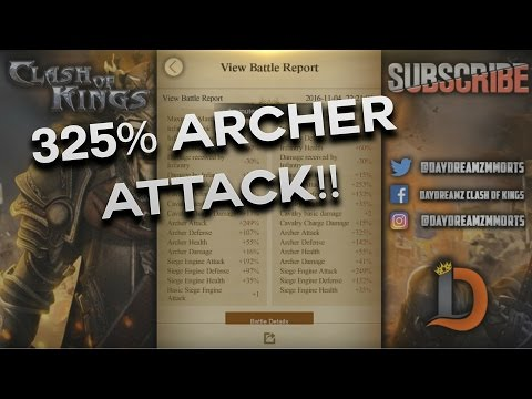 170M POWER 325% ARCHER ATTACK P5 IN DRAGON CAMPAIGN - CLASH OF KINGS