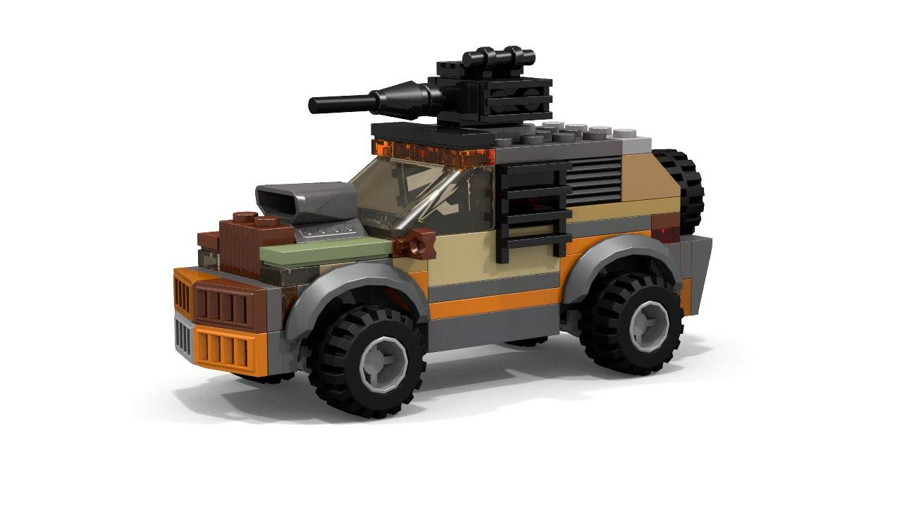 Lego Post Apocalyptic 4x4 Car With Gun Instructions Moc Youtube