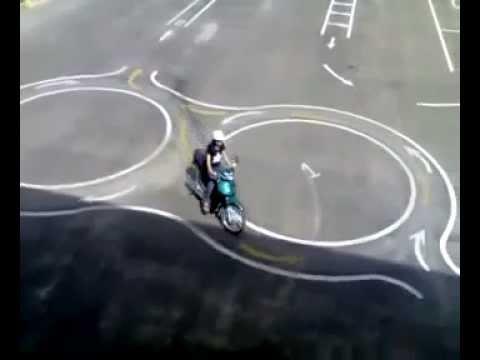 Thi thực hành bằng lái xe máy hạng A1