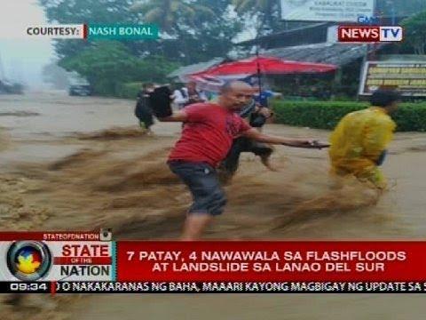 7 patay, 4 nawawala sa flashfloods at landslide sa Lanao del Sur