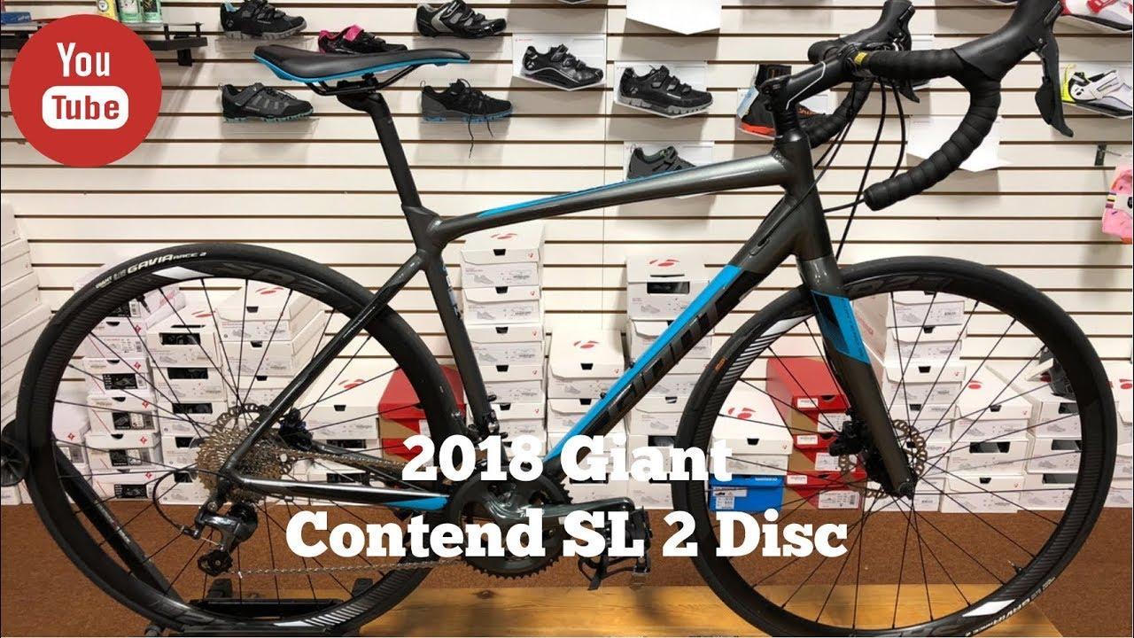 9be8d5264da 2018 Giant Contend SL 2 Disc - YouTube