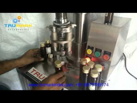 Semi automatic bottle capping machine, cap sealing machine