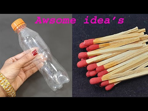 2 SUPERB HOME DECOR IDEAS USING WASTE PLASTIC BOTTEL AND DIY THINGS   DIY CRAFT   BEST OUT OF WASTE