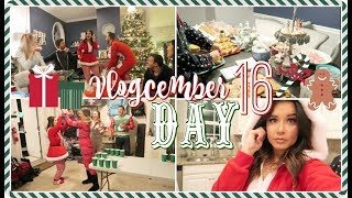 Our Christmas Pajamas Party! + Huge Surprise!  Vlogcember Day 16, 2017