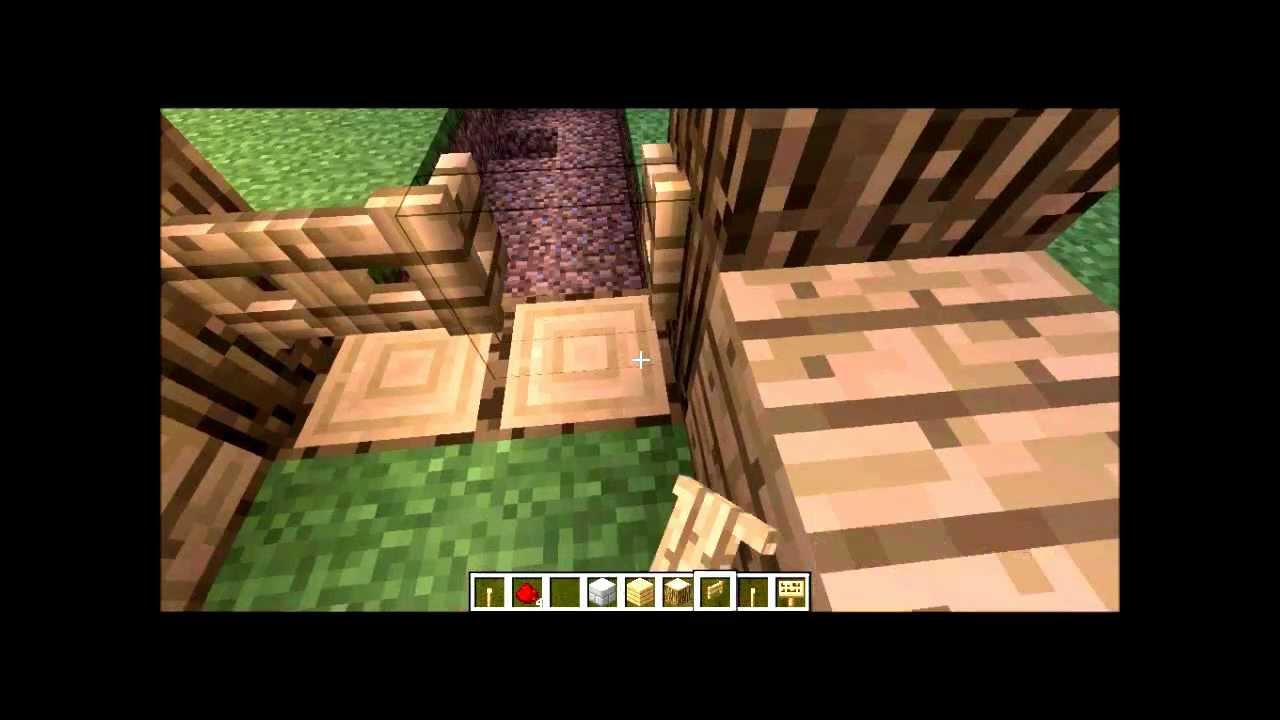 comment faire une cluse sans redstone dans minecraft 5. Black Bedroom Furniture Sets. Home Design Ideas