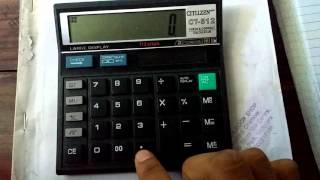Finding log and antilogarithm using simple calculator