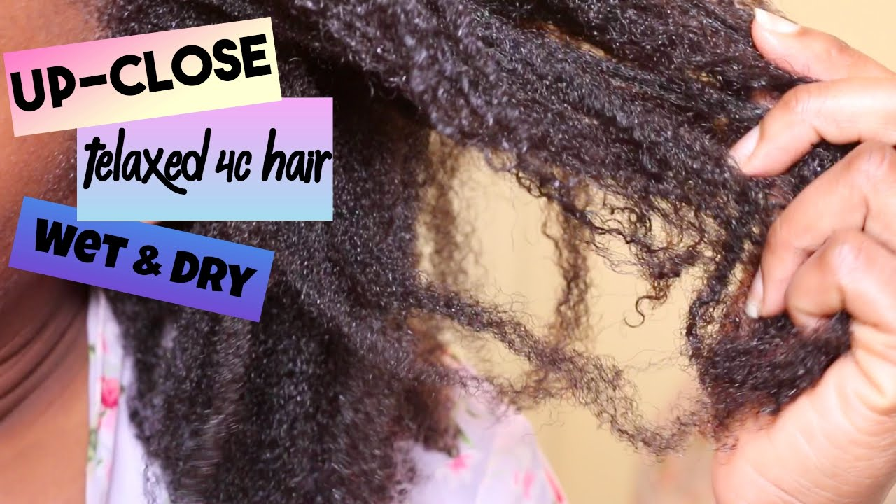 lightly texlaxed 4c hair texture