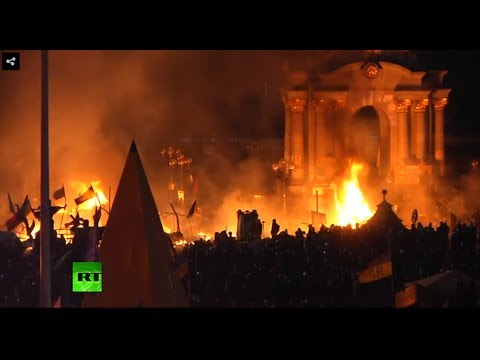 Kiev Riot: Deadly clashes between protesters & police continue overnight