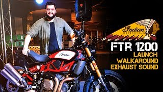 INDIAN Motorcycle FTR1200 India Launch   Walkaround and Akrapovic Exhaust Note !