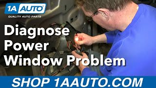 (WISTIA) How To Diagnose your Power Window Problem; Is the Switch or motor bad?