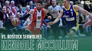 Spectacular game for paderborn's kendale mccullum in the german proa: 27 points, 13 assists, 9 rebounds and 4 steals an ot-win over rostock.