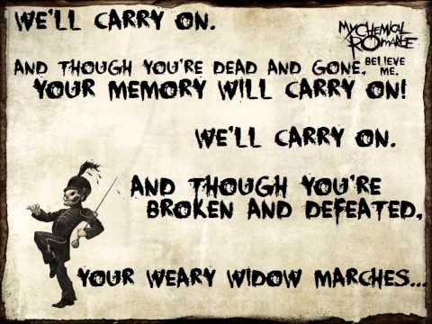 Welcome To The Black Parade - My Chemical Romance Lyrics