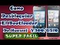 Como Desbloquear el Bootloader oficialmente en el Huawei Y300/G510  Video Tutorial 2015
