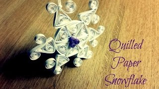 Winter Quilling -  DIY Quilled Paper Snowflake