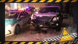 ДТП и драка на парковке г. Алматы