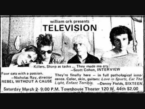 Television '74 - Horizontal Ascension, rare (unreleased) song +lyrics