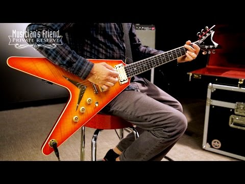 Dean USA V 1977 Electric Guitar, Transparent Cherry Burst
