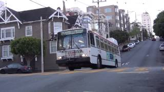TROLLEYBUSES IN SAN FRANISCO MUNI APRIL 2014 SWITCHBACK ALAMO PARK CHINATOWN