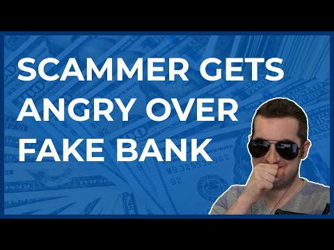 Tech Support Scammer Gets Angry With Fake Bank