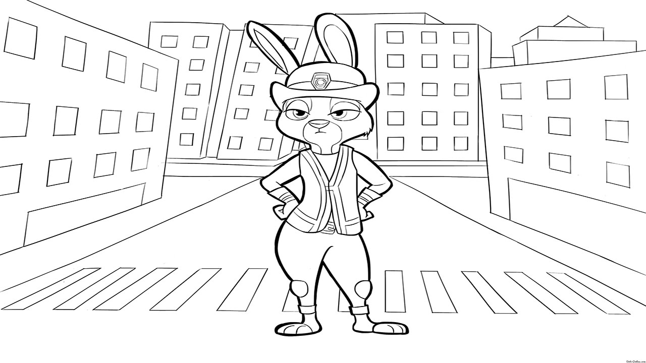 Coloring pages zootopia - Zootopia Coloring P 1 Zootopia Coloring Book