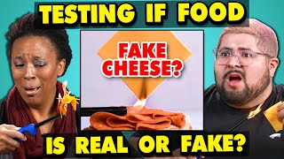 Download Adults React To Testing If My Food Is REAL Or FAKE Mp3 and Videos
