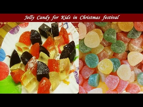 Jelly Candy For Kids In Christmas/ Very Simple & Yummy Candy Recipe For Every Home Kitchen