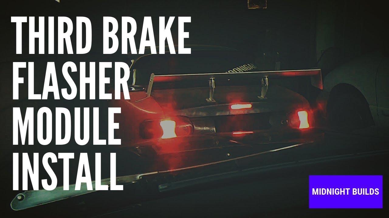 Third Brake Light Flasher Install On Miata (Strobe Light)