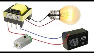 12 V 220V Dönüştürücü || Yapmak DC Motor ile DC Dönüştürücü AC