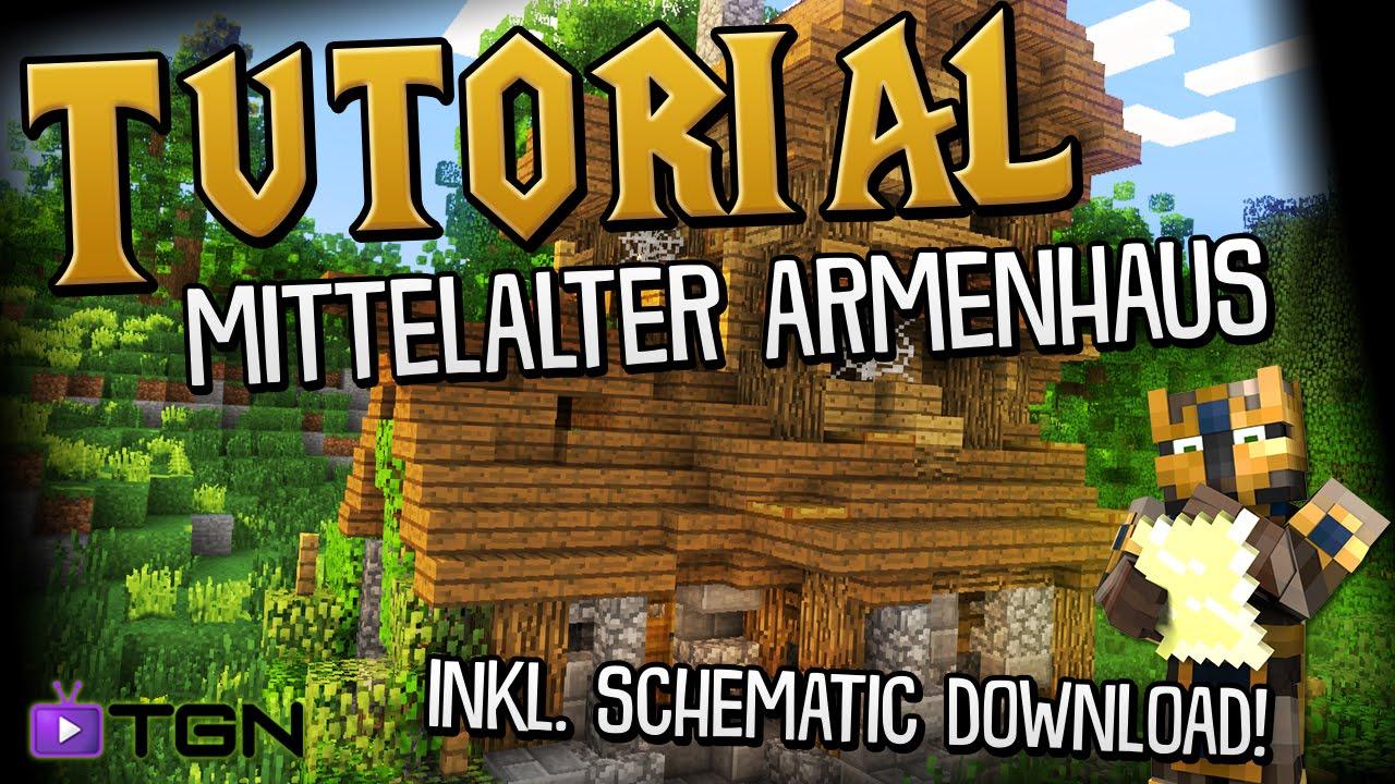 Mittelalter Armenhaus Tutorial Minecraft YouTube - Minecraft mittelalter haus schematic