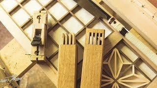JAPANESE JOINERY - JAGUCHI JOINT WITH QUAD TENONS!