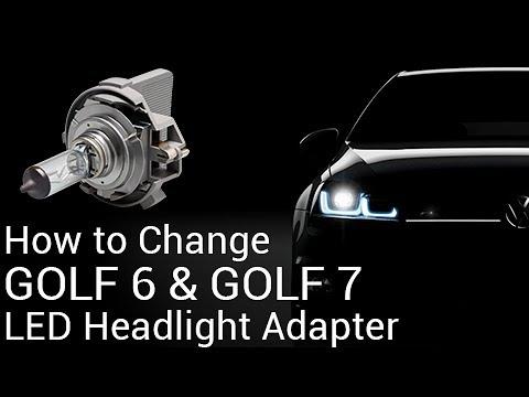 volkswagen golf 6/golf 7 led headlight bulbs change and install instruction