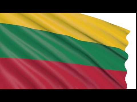 Bandera 3D animada gratis - Lituania - Lietuvos Respublika