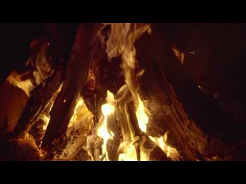 10-Hour of Slow Motion Fire Relax video - Campfire. Episode