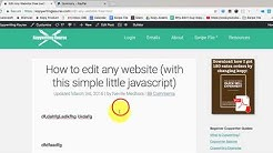 Edit Any Website (Javascript trick)