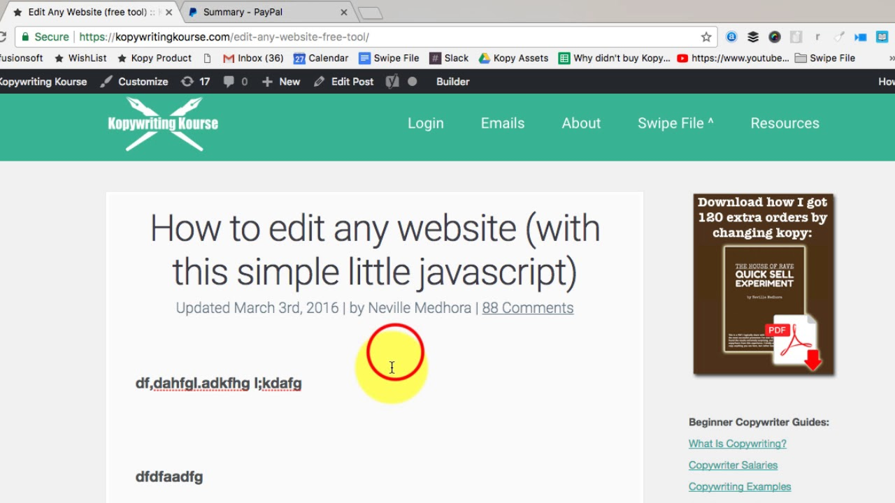 Edit Any Website (free tool) :: Kopywriting Kourse