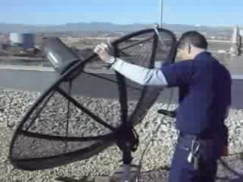 Aligning a parabolic reflector with one of the many GOES satellites