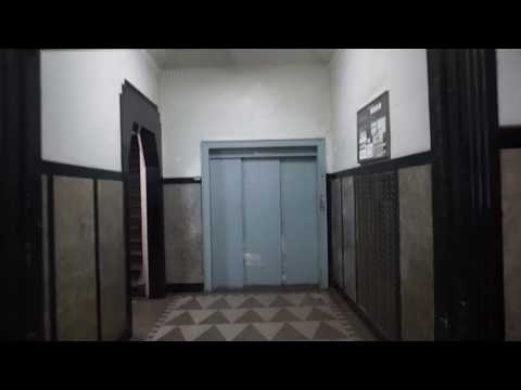 Original vintage freight elevator, Midtown Manhattan between 8th and 9th Aves New York City