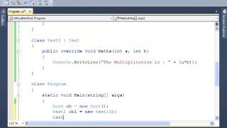 C#: How to Implement Virtual Method - Tutorial 10
