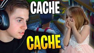 MA NIECE M'AIDE POUR CE CACHE CACHE SUR FORTNITE CRÉATIF !!!