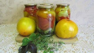 Пряные помидоры дольками.  Рецепт резаных томатов с пряными травами на зиму