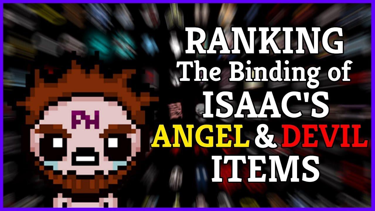 Ranking Isaac S Angel Devil Room Items Youtube
