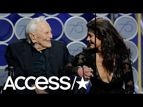 Kirk Douglas Hits The 2018 Golden Globes At 101 Years Old!  Access