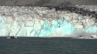 Massive Glacier Calving - Kayaking too Close for Comfort