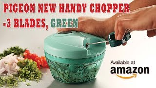 Pigeon New Handy Chopper with 3 Blades, Green only at Amazon India
