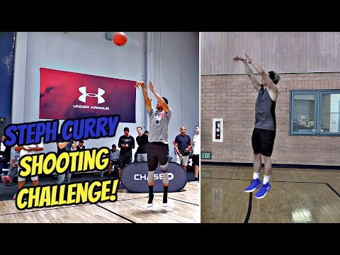 INSANE Steph Curry Shooting Challenge!! NO WONDER HE'S THE GREATEST SHOOTER OF ALL TIME!
