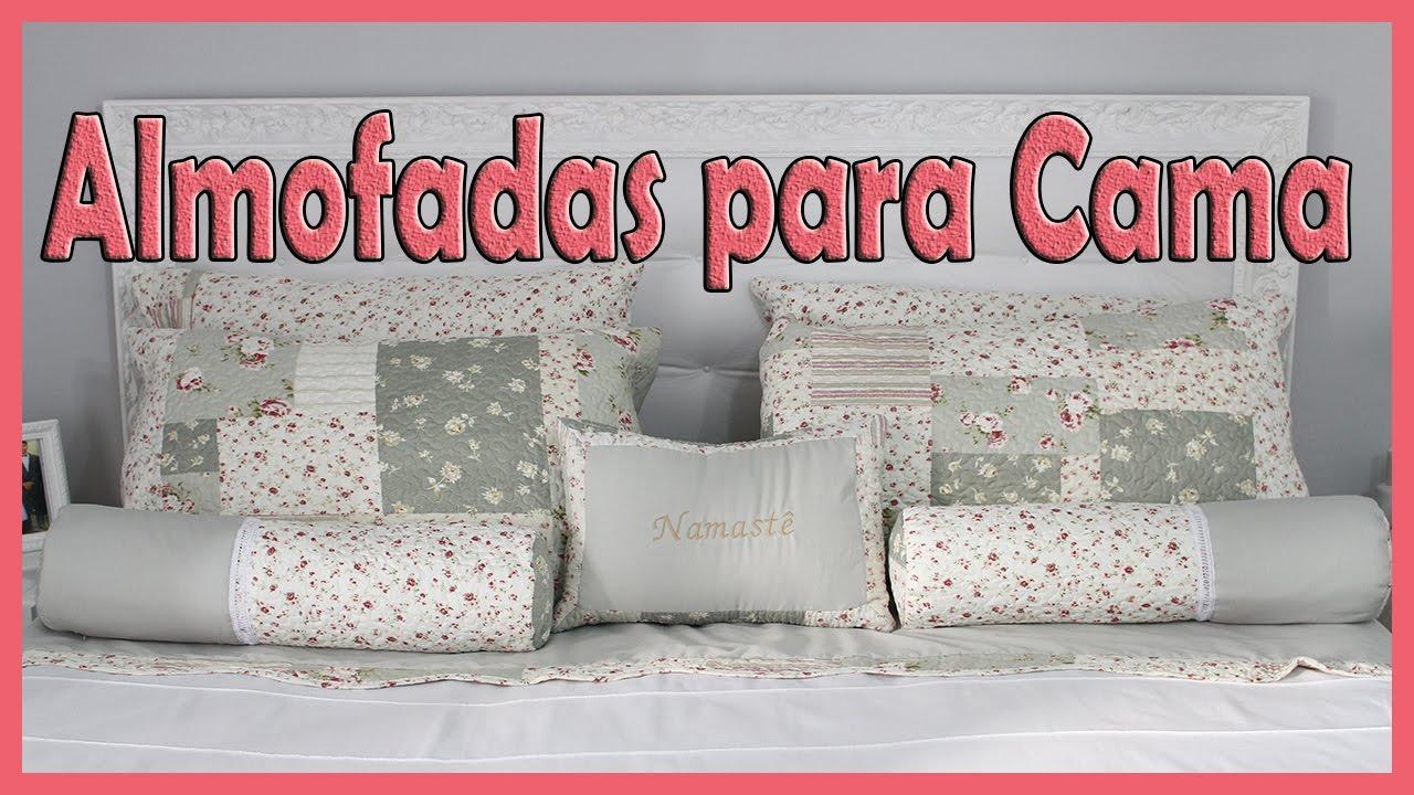 1791cf4696 Fiz muitas almofadas para cama utilizando uma colcha sem uso. - YouTube
